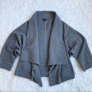 Worth New York Grey Cardigan Wool Sweater